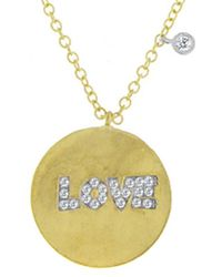 Meira T - 14k 0.14 Ct. Tw. Diamond Love Necklace - Lyst