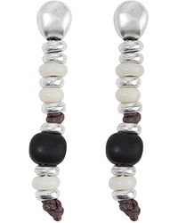 Uno De 50 - Unode50 Tacoma Silver Plated Drop Earrings - Lyst