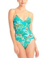 Rachel Roy - Laced Side Maillot - Lyst