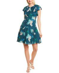 Rebecca Taylor Hydrangea Silk-blend Mini Dress - Blue