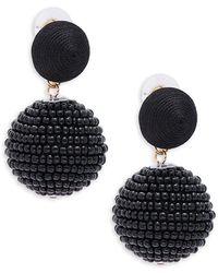 Gemma Simone Bon Bon Beaded Earrings - Black