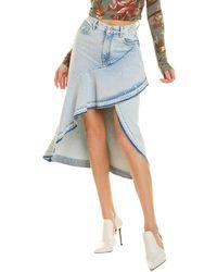 Off-White c/o Virgil Abloh Off-white? Denim Asymmetrical Midi Skirt - Blue