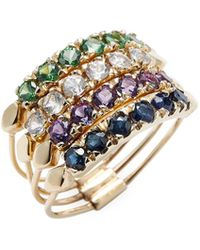Bianca Pratt - Stack Ring With Multi Colored Sapphires - Lyst