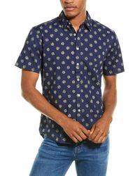 Joules Lloyd Classic Fit Woven Shirt - Blue