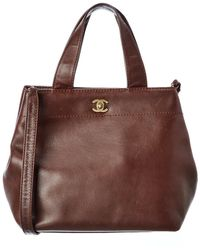 Chanel Brown Calfskin Leather Cerf Tote
