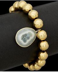 Meira T - Silver Plated Quartz Stretch Bracelet - Lyst
