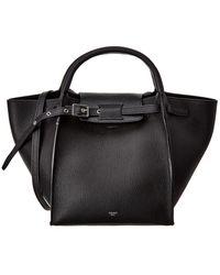 Céline Small Big Bag Leather Tote - Black