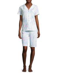 Midnight By Carole Hochman - Bermuda Cotton Pyjama Set - Lyst