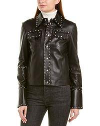 Helmut Lang Studded Leather Jacket - Black