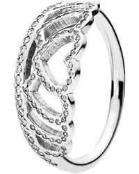 PANDORA Silver Cz Stackable Ring - Metallic