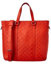 Louis Vuitton Red Damier Infini Canvas Tadao Pm