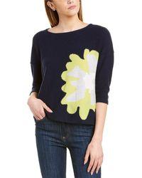 Forte Intarsia Cashmere Sweater - Blue