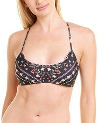 Agua Bendita Lilou Bikini Top - Black