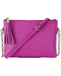 Gigi New York - Python Hailey Clutch - Lyst