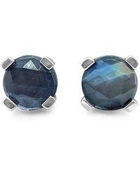 Stephen Dweck Silver Gemstone Earrings - Metallic