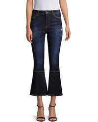Dolce & Gabbana Cropped Flare Pant - Blue