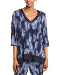 Donna Karan Sleepwear Pyjama Top - Blue