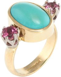 Estate Fine Jewelry - Turquoise & Tourmaline Ring - Lyst