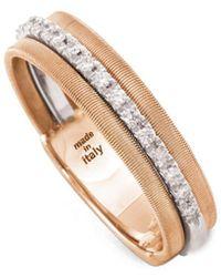 Marco Bicego Goa 18k Rose Gold 0.13 Ct. Tw. Diamond Ring - Metallic