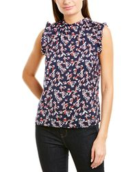 Laundry by Shelli Segal High-neck Top - Blue