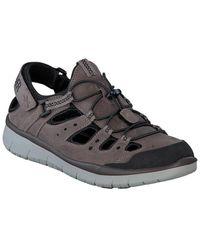 Mephisto Maroon Leather Shoe - Black
