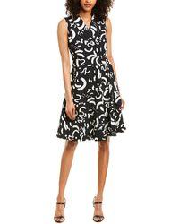 T Tahari A-line Dress - Black