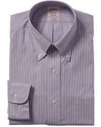 Brooks Brothers 1818 Madison Fit Dress Shirt - Purple