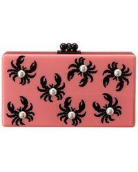 Edie Parker Jean Crabs Acrylic Clutch - Pink