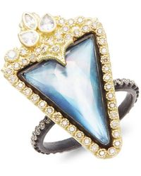 Armenta | Old World Mother-of-pearl, Sapphire, Quartz, Diamond, 18k Yellow Gold & Sterling Silver Ring | Lyst