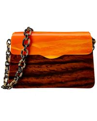 Edie Parker Hardbody Lady Shoulder Bag - Orange