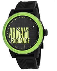 Armani Exchange Men's Three Hand Watch - Green