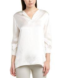 Lafayette 148 New York Leisha Silk Blouse - White