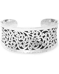 Lois Hill - Sterling Silver Cutout Cuff Bracelet - Lyst