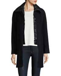 Vince Camuto - Tweed Wool Layered Coat - Lyst