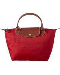Longchamp Le Pliage Top Handle Tote Bag - Red