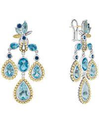 Lagos Wanderlust 18k & Silver Swiss Blue Topaz Earrings
