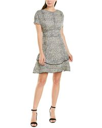 10 Crosby Derek Lam Floral Silk-blend A-line Dress - Black