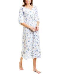 Carole Hochman 3/4-sleeve Nightgown - White