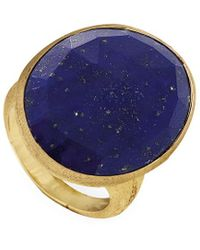 Marco Bicego Lunaria 18k Yellow Gold Lapis Ring - Blue