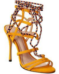 Schutz Weslayne Suede Sandal - Orange