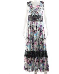 Chanel Multicolour Silk Lace Dress, Size 38, Never Worn