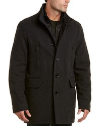 Cole Haan Wool-blend Twill Coat - Multicolour
