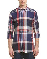Gitman Brothers Vintage Linen-blend Woven Shirt - Blue