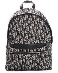 Dior Dior 2020 Navy & White Canvas Oblique Rider Backpack - Multicolour