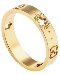 Gucci Yellow Gold Icon Ring - Metallic