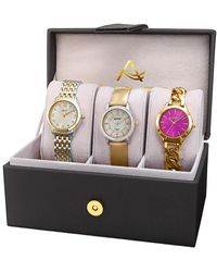 August Steiner Set Of 3 Diamond Watches - Multicolour