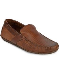 Bacco Bucci - Ariston Textured Leather Driving Loafers - Lyst