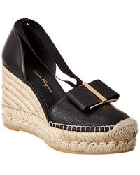 Ferragamo Women's Geraniolos Espadrille Tie - Up Sandals - Brown