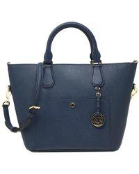MICHAEL Michael Kors Greenwich Large Leather Grab Bag - Blue
