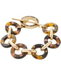 Kate Spade - Linked Circle Station Bracelet - Lyst
